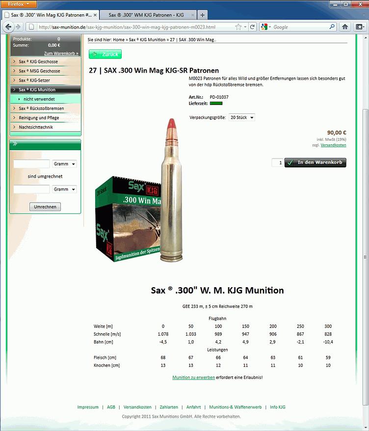 vergleich bleifreie munition